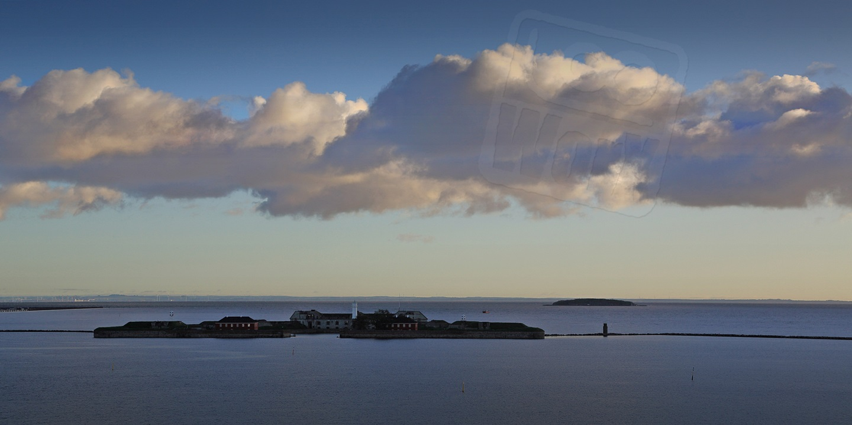 Die Garnisonsinsel vor dem Innenstadthafen von Kopenhagen: Als die Deutschen im zweiten Weltkrieg kamen, schlief die Besatzung noch. Auch heute scheint es hier sehr ruhig.